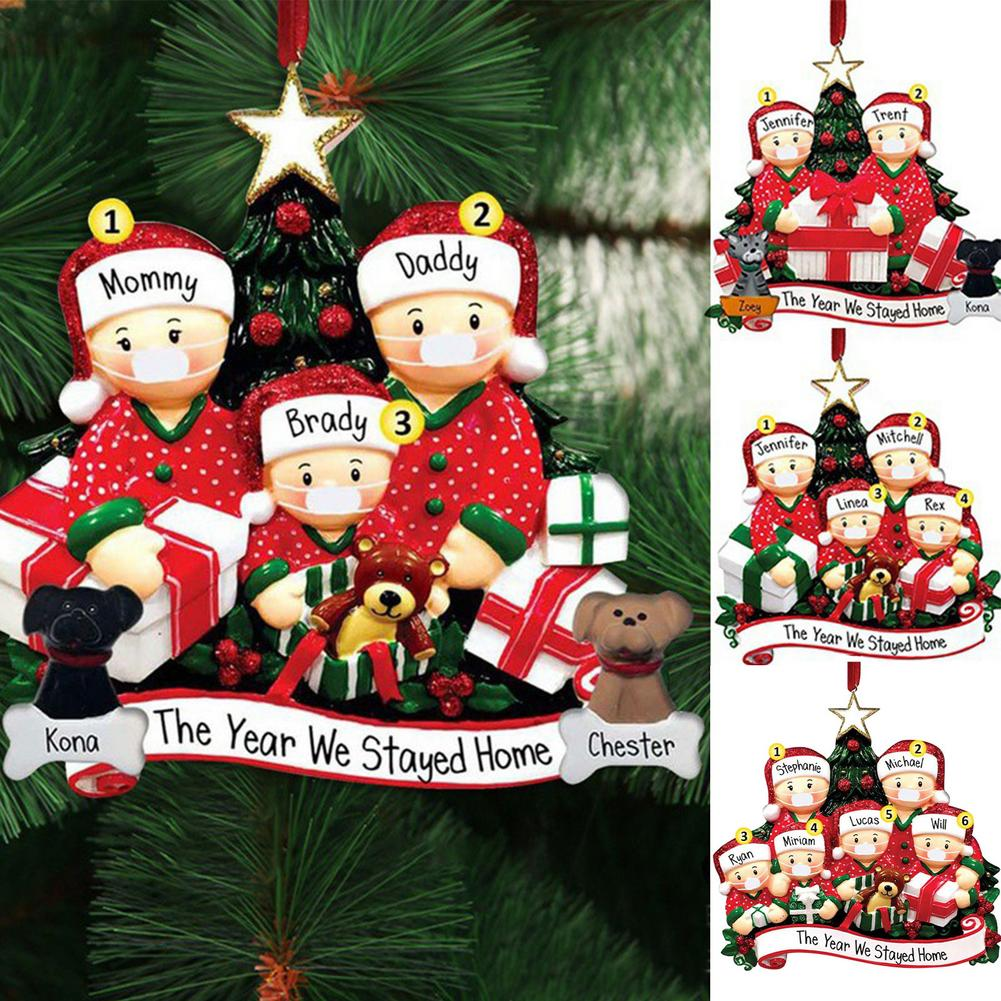 Personalized Christmas Ornament For 2021 Christmas Hanging Ornaments Family DIY