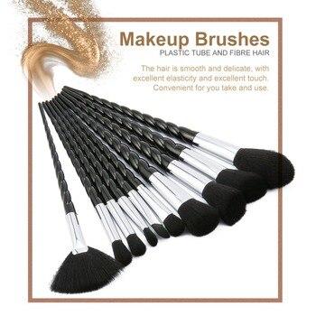 Unicorn Thread Makeup Brushes Professional Make Up Brushes Fiber Brush Set Makeup Tools Eyebrow Eyeliner Powder Brushes dfdf
