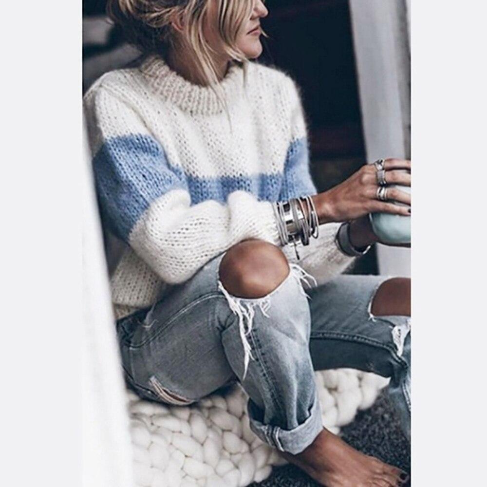 Купить женские винтажные пуловеры свитера осенне зимняя одежда вязаный