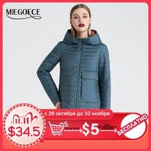 MIEGOFCE 2020 Весна и осень женская куртка c капюшоном женская модная ветрозащитное пальто куртка с большими карманами горячая продажа