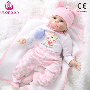 Image 1 - 55cm Realistic Reborn Baby Doll Soft Silicone Stuffed Lifelike Baby Doll Toy Ethnic Doll For Kids Birthday Christmas Gifts