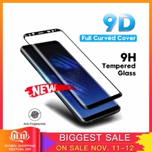 Tempered Glass Film For Samsung Galaxy Note 8 9 S9 S8 Plus S7 Edge 9D Full Curved Screen Protector For Samsung A6 A8 Plus 2019