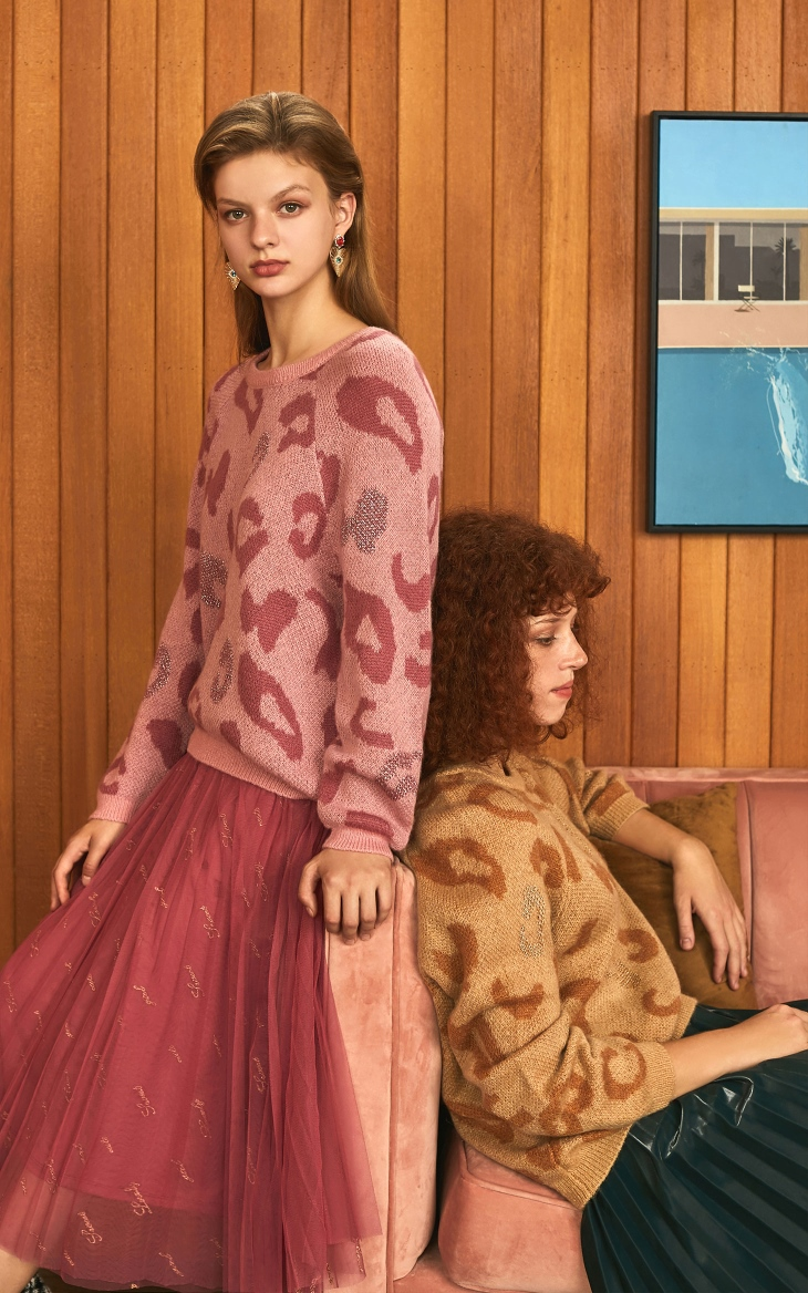 Loose Fit Leopard Animal Print Sweater 6