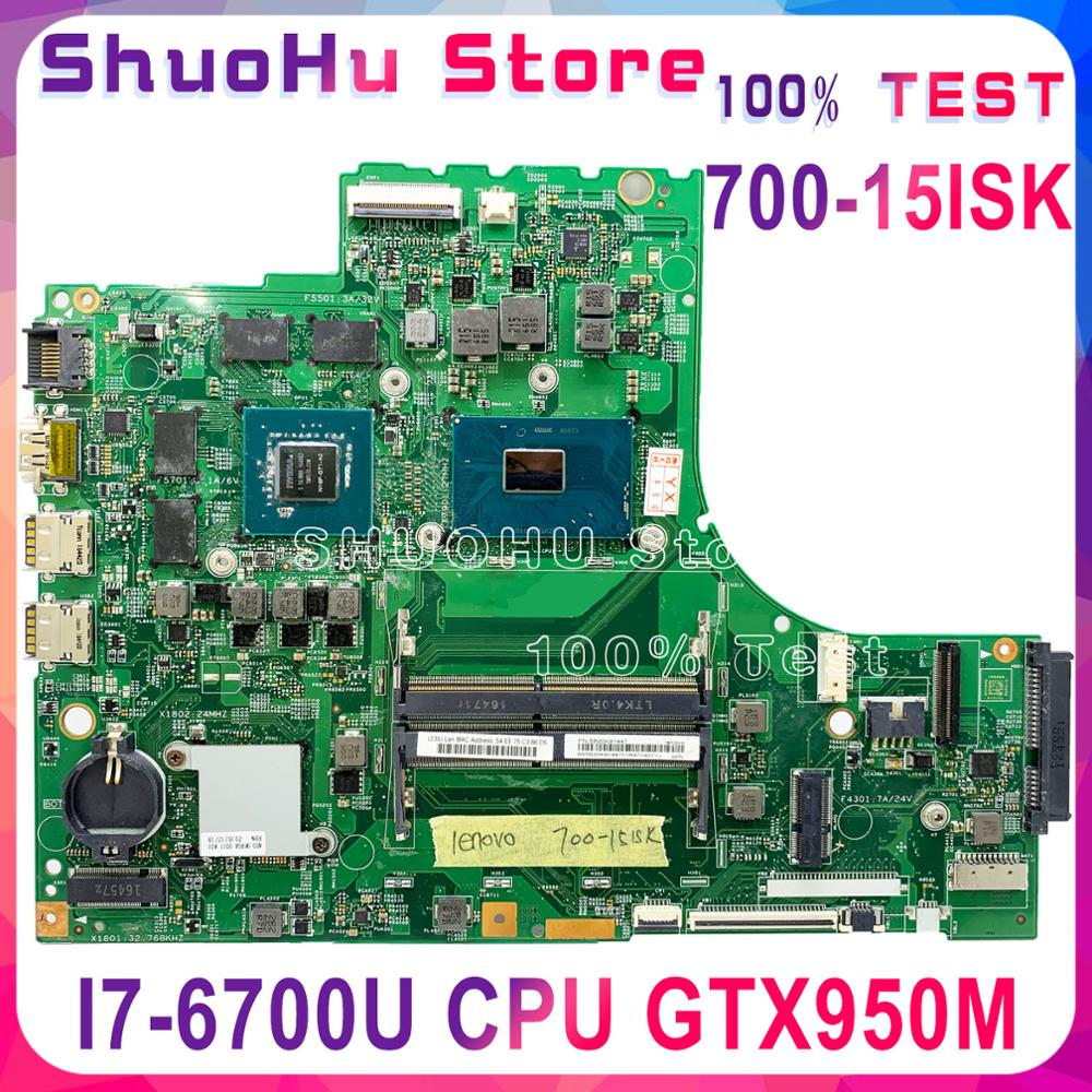 KEFU 700-15ISK Motherboard For Lenovo ideapad 700-15ISK xiaoxin700 Laptop Motherboard I7-6700U CPU GTX950M original Tested