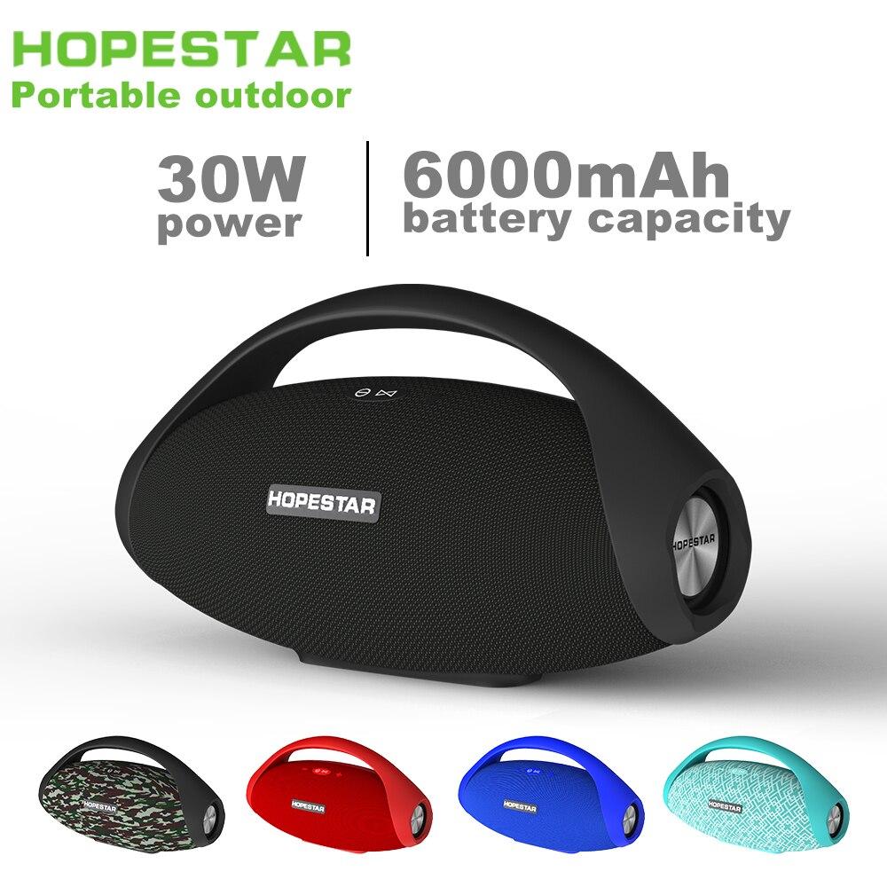 HOPESTAR H31 портативный Bluetooth динамик сабвуфер 30 Вт большой мощности Бумбокс Водонепроницаемый Открытый Колонка беспроводной FM Радио стерео бас