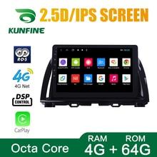 Octa Core 1024*600 Android 8,1 navegación GPS con DVD para coche reproductor sin cubierta coche estéreo para Mazda CX5 2015–2017 Radio