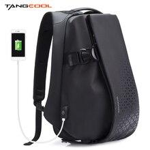 Tangcool الرجال الموضة على ظهره 17.3 بوصة كمبيوتر محمول على ظهره مقاوم للماء شحن USB في الهواء الطلق على ظهره حقيبة ظهر مدرسية يومية