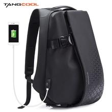 Mochila Tangcool para hombres, mochila para ordenador portátil de 17,3 pulgadas, mochila impermeable para recargar USB al aire libre, mochila escolar diaria