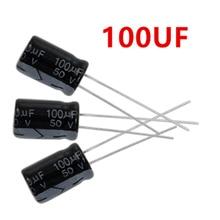1000pcs 100 미크로포맷 50V 105C 방사형 전해 커패시터 8x12