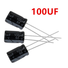 1000pcs 100uF 50V 105C Radial Electrolytic Capacitor 8x12