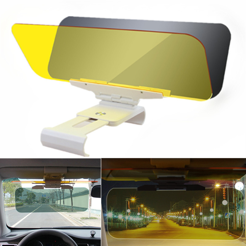 Audew Car Sun Visor 2 In 1 Dazzling Goggle Day Night Vision Goggle Anti-Dazzle Day Night Vision Driving Mirror ClearView Goggle