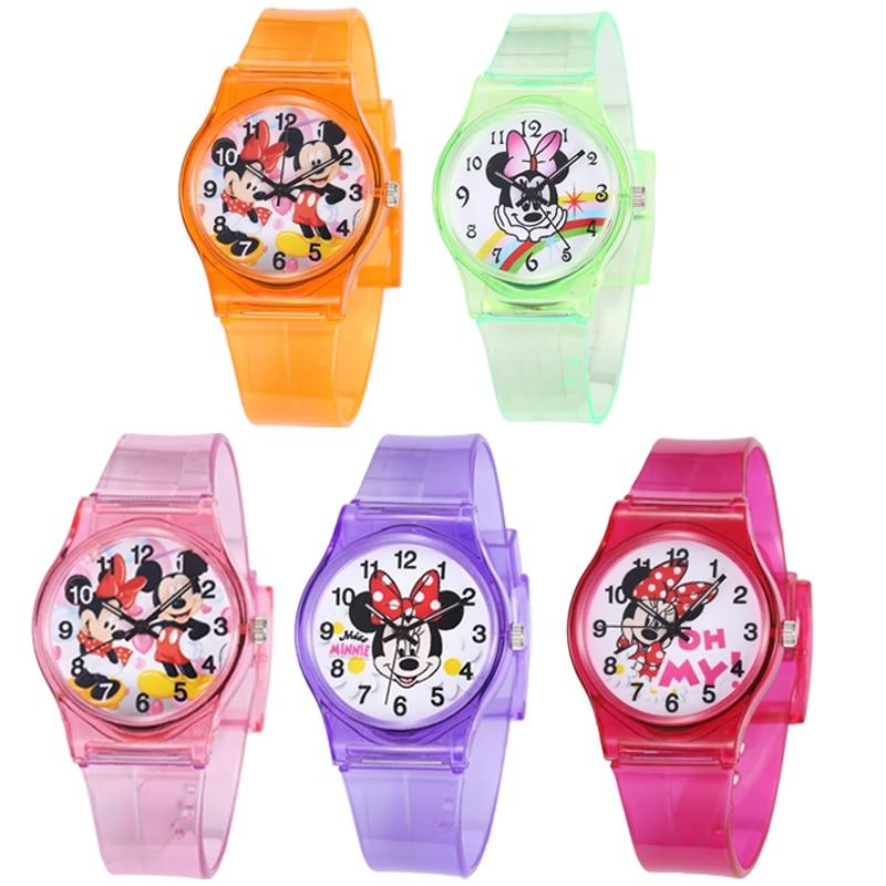 30M Waterproof Mickey Minnie Mouse Watch Children Quartz Hello Kitty Women Wristwatch Kids Boys Girls Clock Baby Gift Relogio