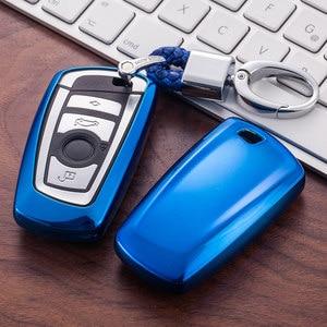 Image 3 - Car Key Case Cover for BMW 520 525 f30 f10 F18 118i 320i 1 3 5 7 Series X3 X4 M3 M4 M5 Car Styling Soft TPU Protection Key Shell