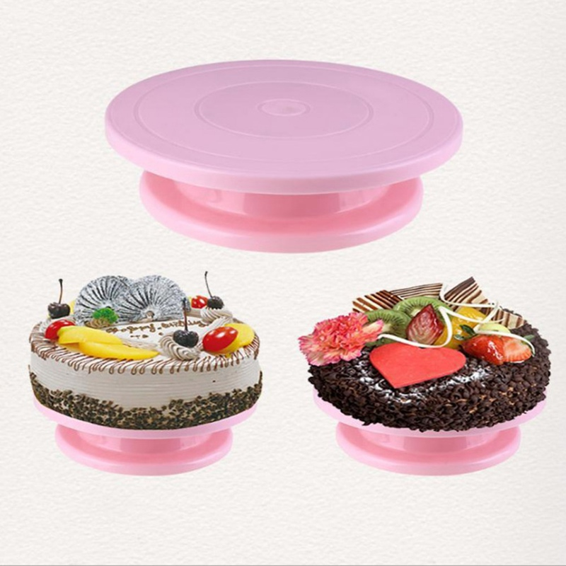 DIY Cake Turntable Baking Mold Cake Plate Rotating Round Cake Decorating Tools Rotary Table Pastry Supplies Baking Accessories