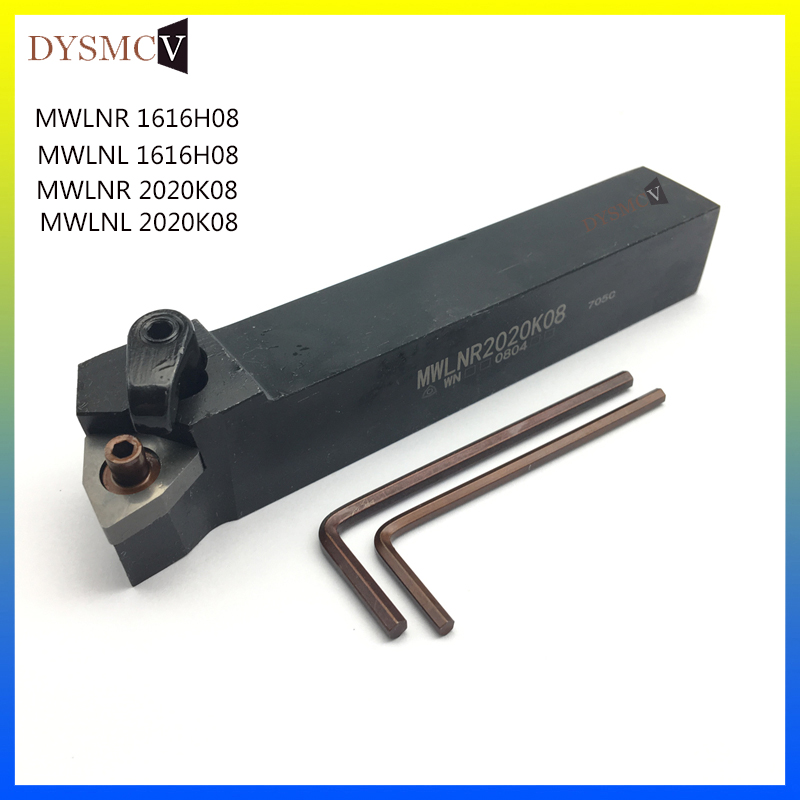 1 Piece MWLNR2020K08 MWLNL2020K08 MWLNR1616H08 MWLNL 1616H08 95 Degree Cylindrical Cutter With WNMG0804 Cutting Tool