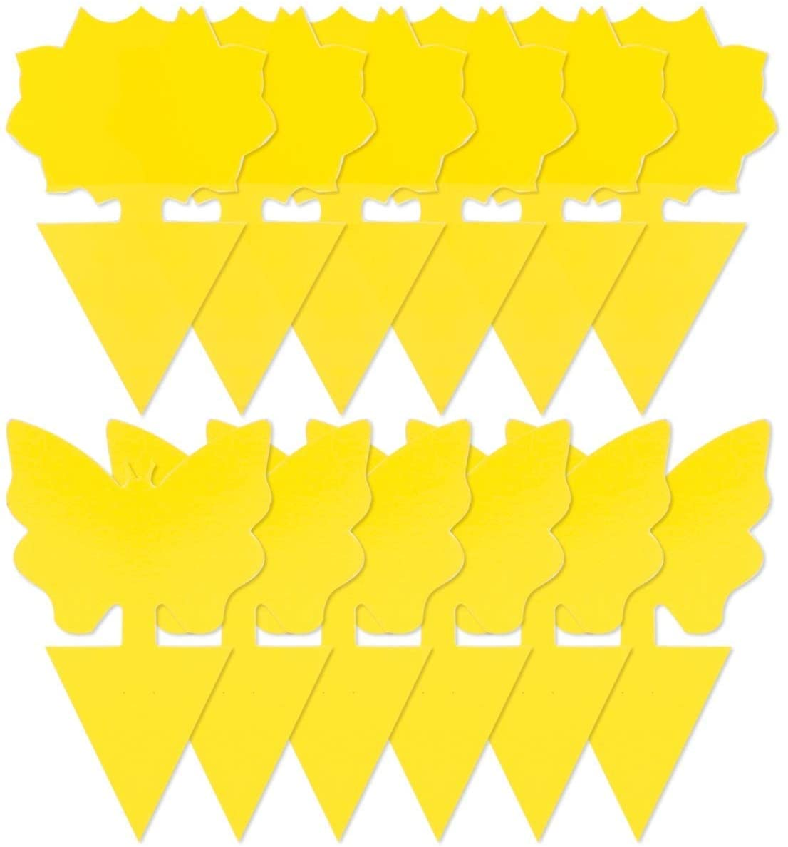 Двусторонняя клейкая доска в форме желтой бабочки, клейкая доска для растений, цветов и овощей, ловушка для комаров, мух, наклейка для контро...