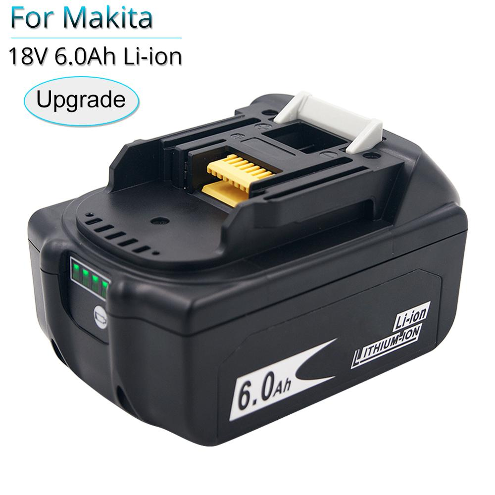 BL1860B 18V <font><b>6000mAh</b></font> Replacement Battery for Makita BL1850B BL1860 BL1840 BL1815 Cordless Drill with Single Cell Balance Protect image