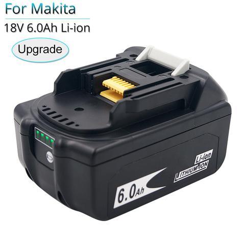 Bateria de Substituição para Makita Furadeira sem Fio com Único Equilíbrio de Célula Bl1850b Bl1860 Bl1840 Bl1815 Proteger Bl1860b 18 v 6000 Mah