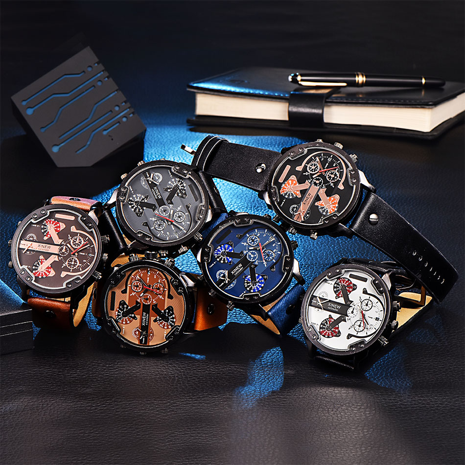Sports Watches Men's Army Military 2019 Watch Man Quartz Clock Relogio Masculino Luxury Brand Men Analog Digital Leather