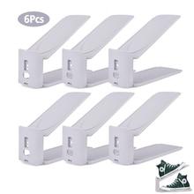 Shelf Shoe-Organizer Shoes Storage-Rack Adjustable Support-Slot Space-Saver 6pcs Footwear