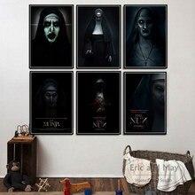 A freira conjurando clássicos cartazes de terror e impressões pintura da lona quadros de parede para sala estar filme decoração para casa