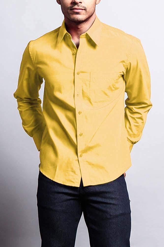 Мужская классическая рубашка с длинным рукавом, однотонная Классическая рубашка, прямые брюки карго, 20 шт.