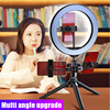 New Hot 10 Inch LED Ring Light Lamp Selfie Camera Phone Studio Tripod Stand Dimmable Adjustable Angle flash sale