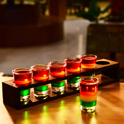 Shot Glass,Whisky Shot Glasses,Mini Glass Cups For liqueur, Vodka Glass,Tequila Cups Holder Rack Barware