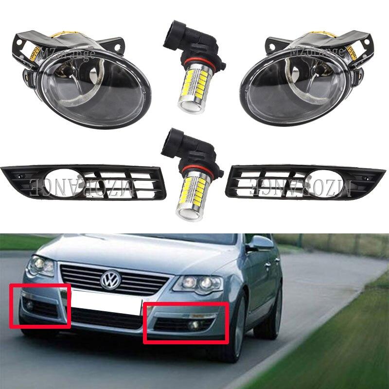 For Passat B6 Fog Light For VW Headlights 2006-2011 Fog Lights Led Halogen Fog Lamps For Volkswagen Headlight Foglights