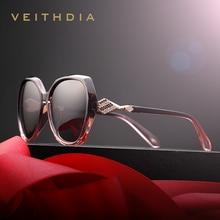 VEITHDIA Womens Sun glasses Polarized Gradient Lens Luxury Ladies Designer Sunglasses Eyewear Accessories For Women 3158