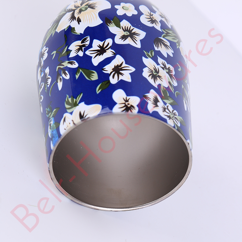 Stainless Steel Wine Tumbler With Straw Hole For Cup Surface For Storing Beverage 11