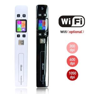 Image 1 - Iscan02 휴대용 핸드 헬드 디지털 무선 와이파이 1050DPI LCD 오피스 스캐너 문서 사진 JPG PDF 영수증 A4 미니 핸디 스캐너