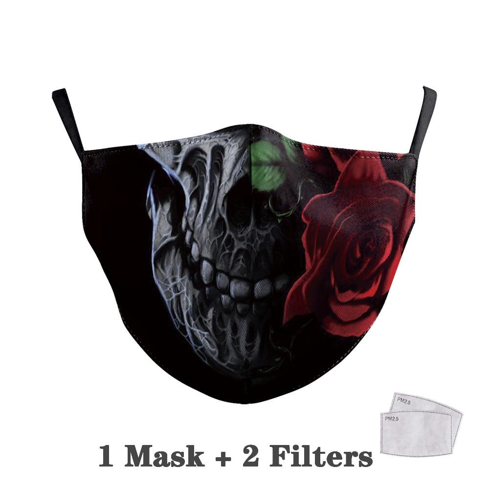 Washable Big Mouth Skull Face Masks 29