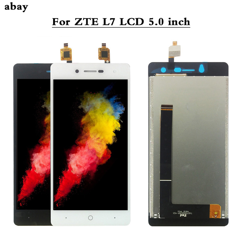 L7 <font><b>A320</b></font> <font><b>LCD</b></font> Screen For ZTE Blade L7 <font><b>LCD</b></font> Display Touch Screen Assembly Panel Digitizer Pantalla Replacement parts 5.0 inch image