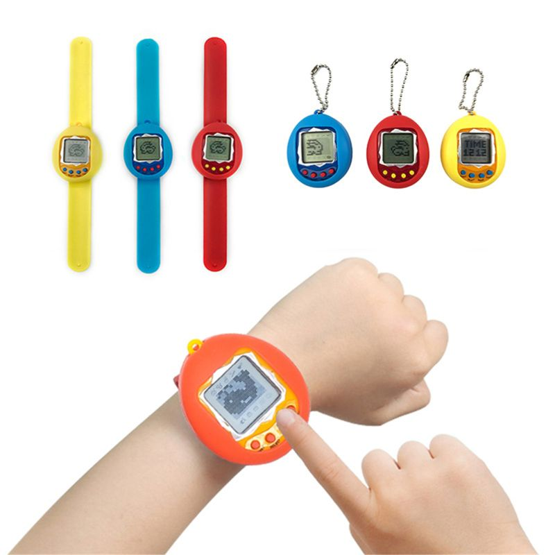 168 Pets In One Nostalgic 90S Virtual Pet Toy Electronic Cyber Pet Toys Keychains Watch Children Christmas Gifts