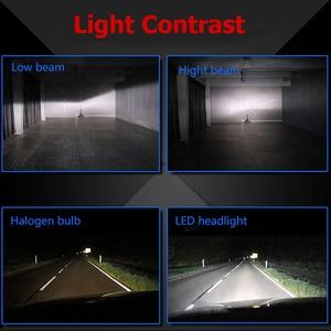 Image 2 - 2Pcs Led 360 H7 Koplamp Lamp 16000LM 4 Side Cob Led H4 H1 H11 H8 HB3 HB4 Auto Fog verlichting 12V 24V Auto Verlichting Voor Hyundai/Skoda