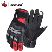 SCOYCO Waterproof Motorcycle Gloves Leather Moto Gloves Touch Screen Motocross Gloves Winter Windproof Motorbike Riding Gloves