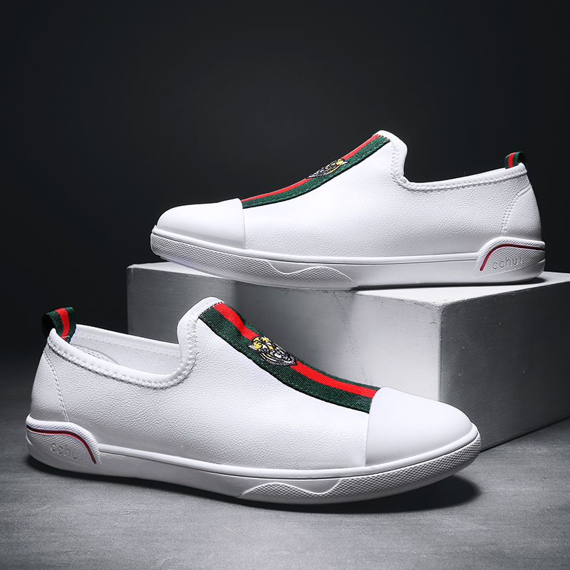 2020 new leather shoes men's sports shoes casual men's shoes fashion brand white shoes men's high-quality fashion wild shoes