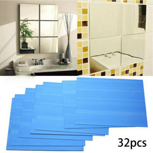 32/16/6pcs Glass Mirror Tiles Wall Sticker VIP Link for Tom
