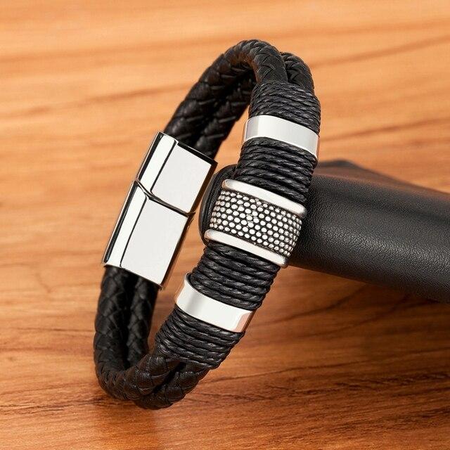 Dubbele Laag Leren Armband