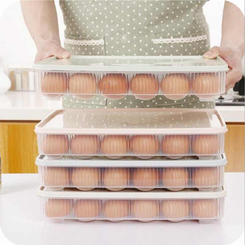 Ferramentas da cozinha Ovo Piquenique Portátil Selvagem Boxs de Armazenamento Organizador Caso Recipiente Ovo De Plástico Mais Nítidas Frigorífico Fresco