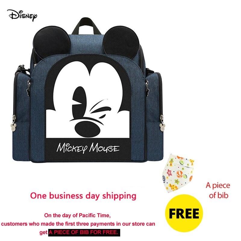Disney Diaper Backpack Baby Bag For Mom Mickey Minnie Wet Bag Fashion Mummy Maternity Diaper Organizer Dinner Chair Bag Pram