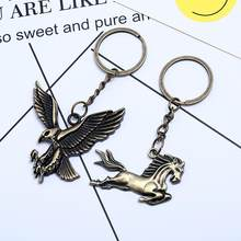 Vintage Eagle Pendant Keychain Key Ring Bag Car Hanging Ornament Decor New(China)