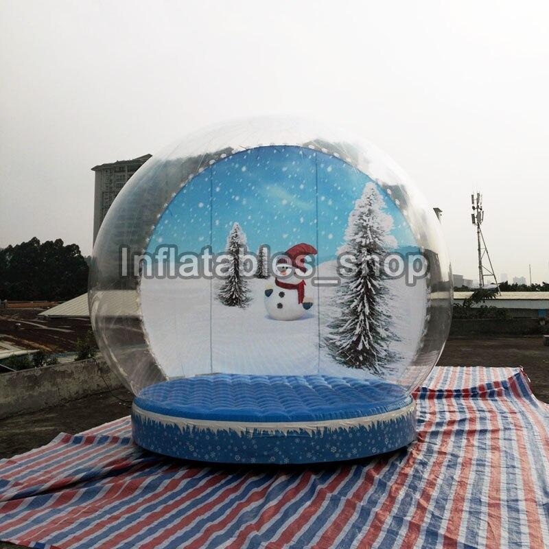 Nouveaux produits gonflables de décoration de noël Globe de neige gonflable de 3M Dia pour la publicité cabine de Photo de Globe de neige de taille humaine