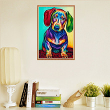 Hot Selling Color Dog 5D Diamond Painting DIY Full of Crystals Stickers Decorative