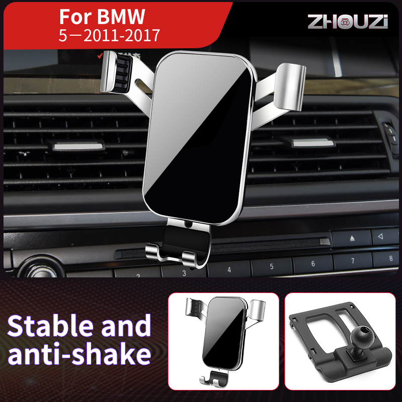Car Mobile Phone Holder Mounts Stand GPS Gravity Navigation Bracket For BMW 5 Series 5GT F10 F11 2011-2017 Car Accessories