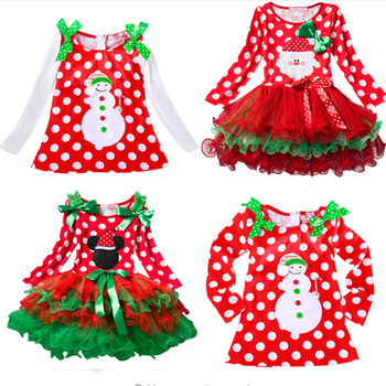Fancy Baby Girl Carnival Santa Dress For Girls Minnie Mouse Holiday Children Clothing Party Tulle Kids Costume