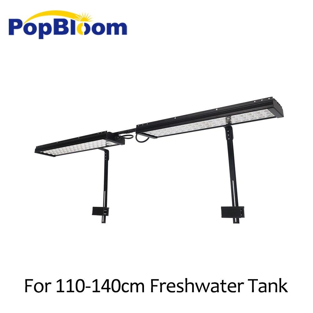 PopBloom LED pour aquarium d'eau douce éclairage lampe à LED pour eau douce meilleur pour 110-140cm réservoirs de poissons avec bras kit de montage FI4BP2