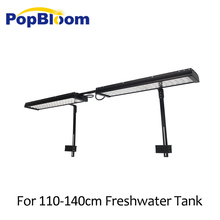 PopBloom freshwater aquarium led lighting lamp for best 110-140cm fish tanks with arm mounting kit FI4BP2