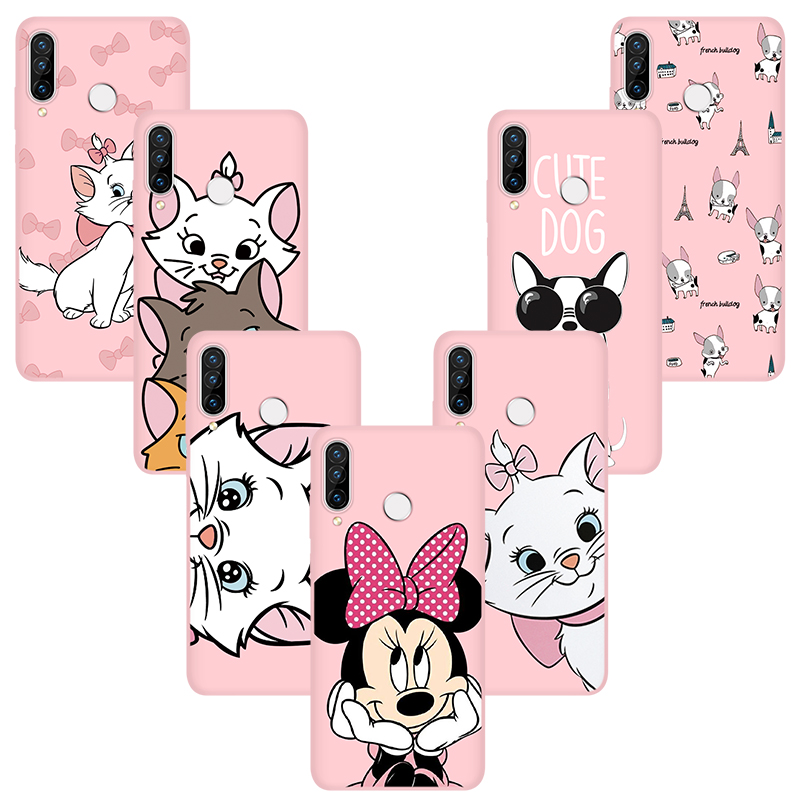Cute Case For Huawei Y6 Y9 Y7 Prime <font><b>P</b></font> Smart 2019 2018 Mate 20 10 <font><b>30</b></font> P30 P9 P10 P20 Pro <font><b>Lite</b></font> 2017 Case Soft TPU Matte Cover Coque image